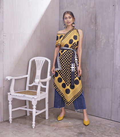 Dress - Akesu Scarf Dress (Mustard)