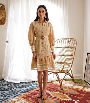 Dress - Argos Bishop Sleeve Tiered Dress With Rickrack Trim