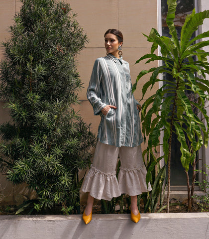 Dress - Belcarra Long Sleeve Shirt Dress (Sage)