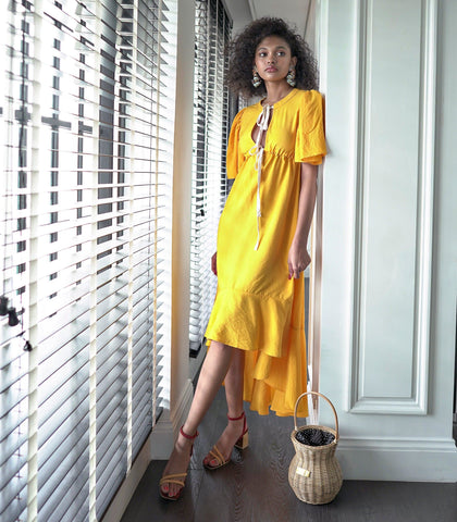 Dress - Benguela Double Tie Dress (Marigold)