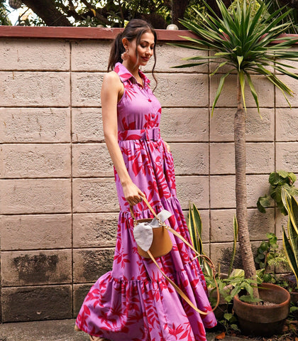Dress - Boksburg Sleeveless Button-Down Tiered Maxi Dress