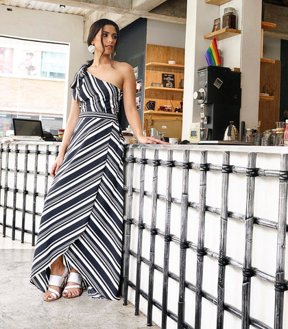 Dress - Cher Asymmetrical Maxi Dress