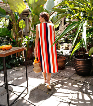 Florence Fling Santana Striped Trapeze Midi Dress
