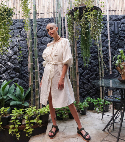 Dress - Kilifi Oversized Midi Dress - Ivory