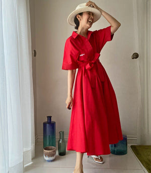 Limited Edition Mujer Shirt Dress (Cherry)