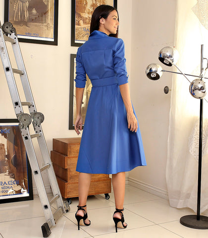 Dress - Maratea Button Down Dress With Covered Buckle Belt