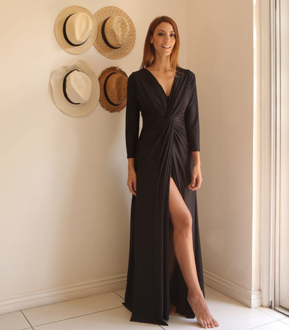 Dress - Mikulov Long Sleeved Draped Jersey Dress