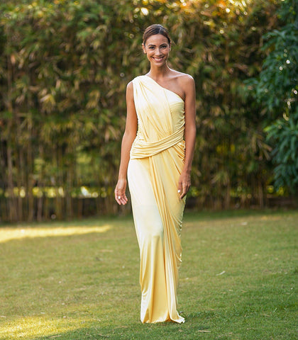 Dress - Opava One-Shoulder Draped Jersey Dress