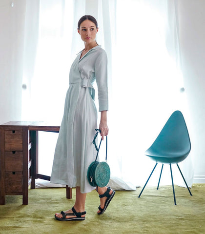 Dress - Paskov Pleated Linen Dress (Mint)