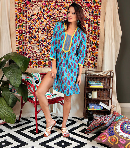 Dress - Pushkar Hand Block Print Tunic Dress
