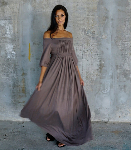 Dress - Zanna Off-the-Shoulder Empire Maxi Dress