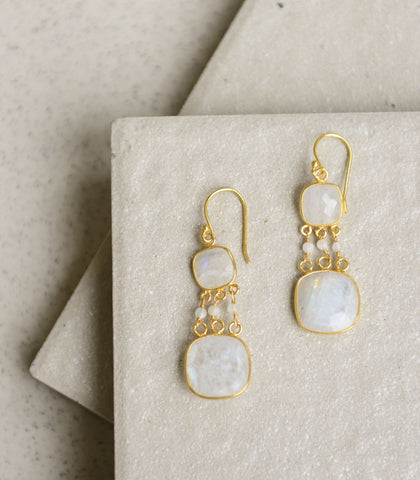 Earrings - Achelois Moonstone Earrings