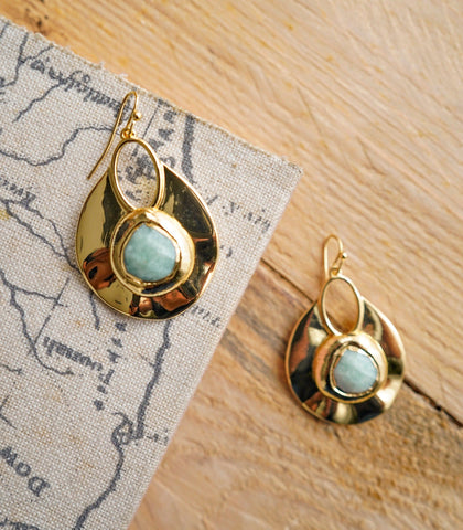 Earrings - Agate Stone Earrings