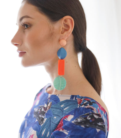Earrings - Alessandra Shell Drop Earrings