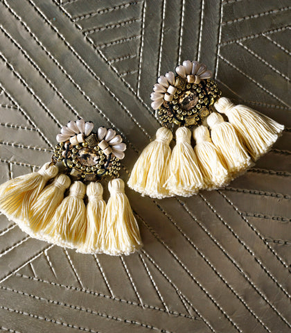 Earrings - Amatheia Naya Fringe Earrings