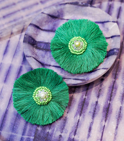 Earrings - Arriba Tops Fringe Earrings