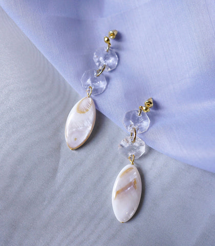 Earrings - Azurie Shell Drop Earrings