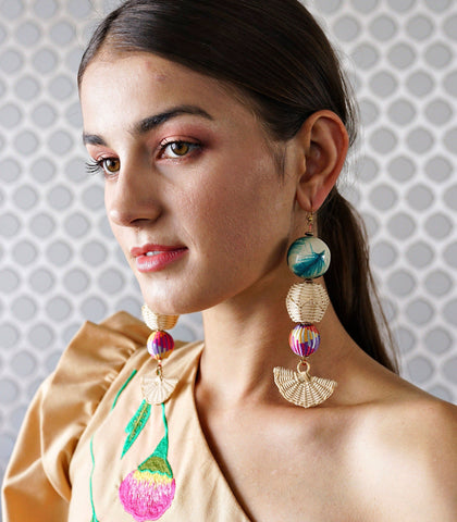 Earrings - Bahola Ola Link Earrings