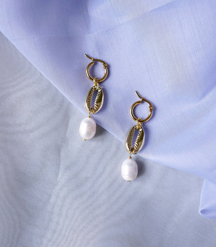 Earrings - Biwa Pearl Drop Earrings