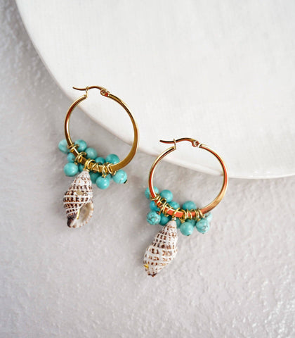 Earrings - Caicos Hoop Earrings