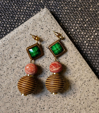 Earrings - Cameo Drop Earrings