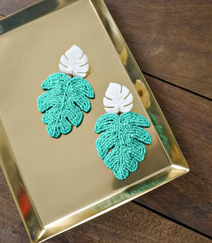 Earrings - Cancun Earrings-Teal