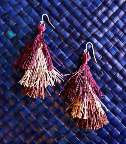 Earrings - Cecilia Tiered Tassel Earrings