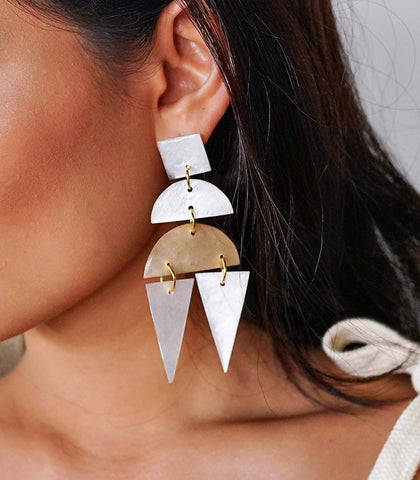 Charito Capiz Earrings