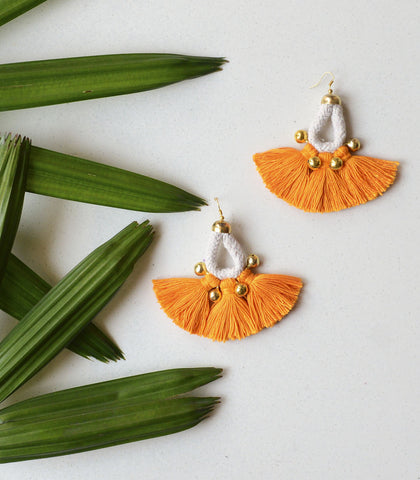 Earrings - Chiku Tassel Statement Earrings