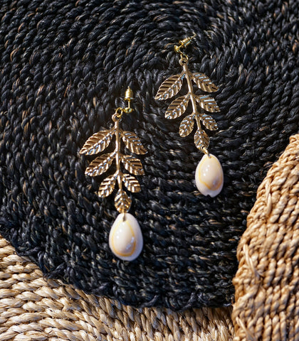 Earrings - Cowrie Filigrane Earrings