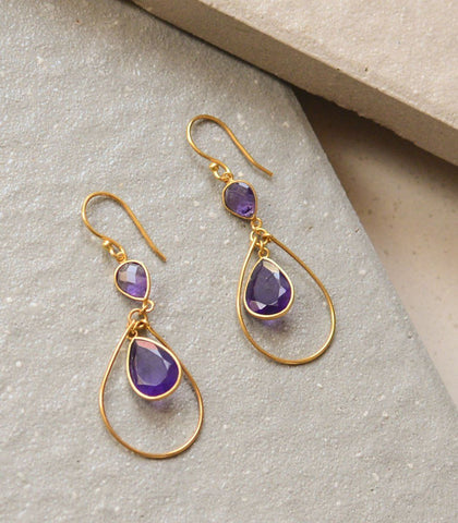 Earrings - Dunya Amethyst Earrings