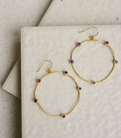 Earrings - Eirene Amethyst Earrings