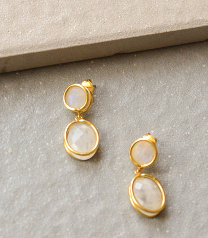 Earrings - Farida Moonstone Earrings