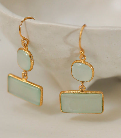 Earrings - Fortuna Chalcedony Earrings