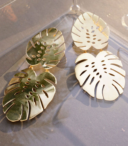 Earrings - Hoja De Monstera Earrings