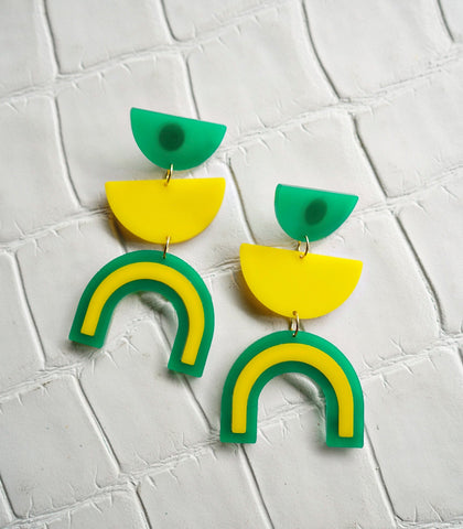 Earrings - Inca Acrylic Earrings