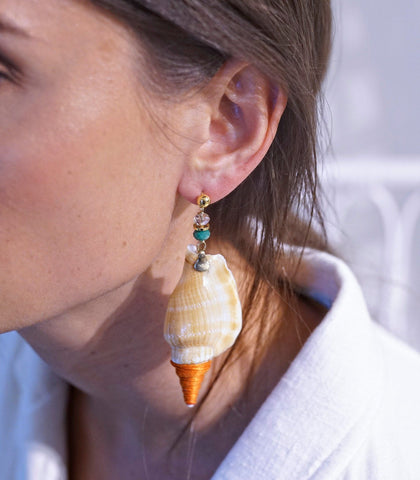 Earrings - Isla Shell Drop Earrings (2 Variants)