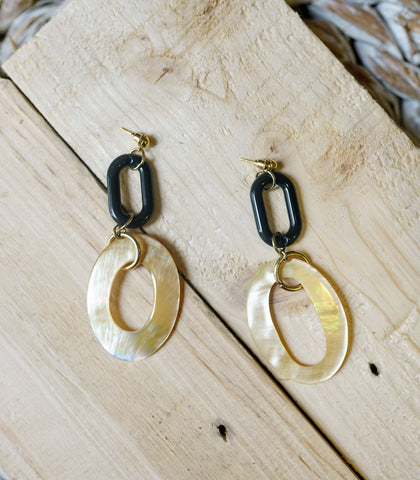 Earrings - Kaine Hoop Drop Earrings