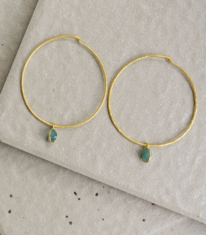 Earrings - Kybele Green Onyx Earrings
