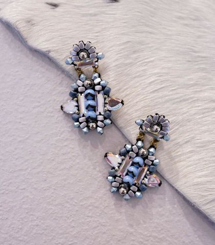 Earrings - Laraché Wona Beaded Earrings (Cornflower)
