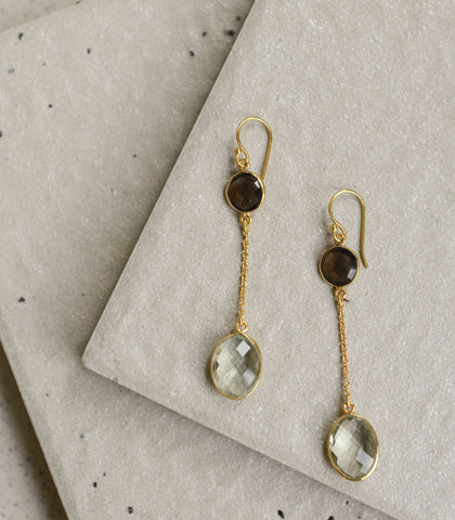 Earrings - Lucina Green Amethyst Earrings