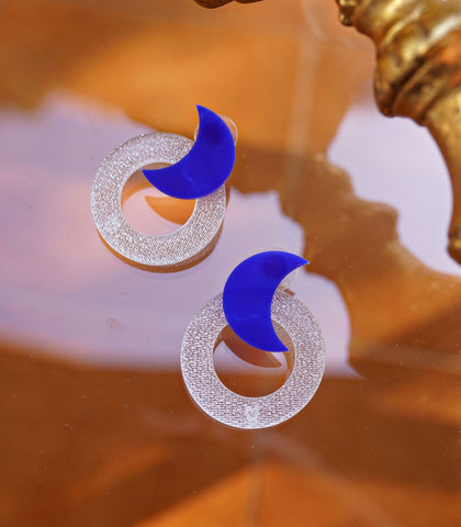 Earrings - Luna Acrylic Earrings - Hoop