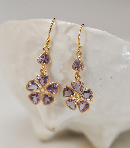 Earrings - Maia Amethyst Earrings