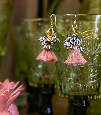 Earrings - Nazar Tassel Drop Earrings