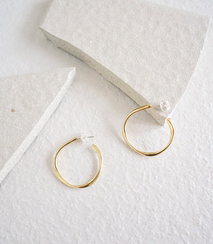 Earrings - Nejire Hoop Earrings