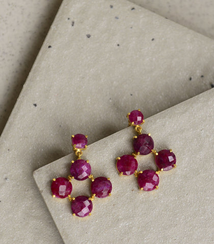 Earrings - Nona Ruby Earrings