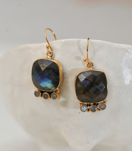 Earrings - Nortia Labradorite Earrings