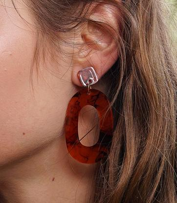 Earrings - Paola Tortoiseshell Earrings