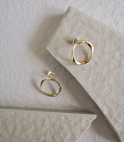 Earrings - Rupu Twisted Hoop Earrings