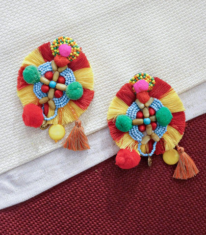 Earrings - Saria Tassel Earrings